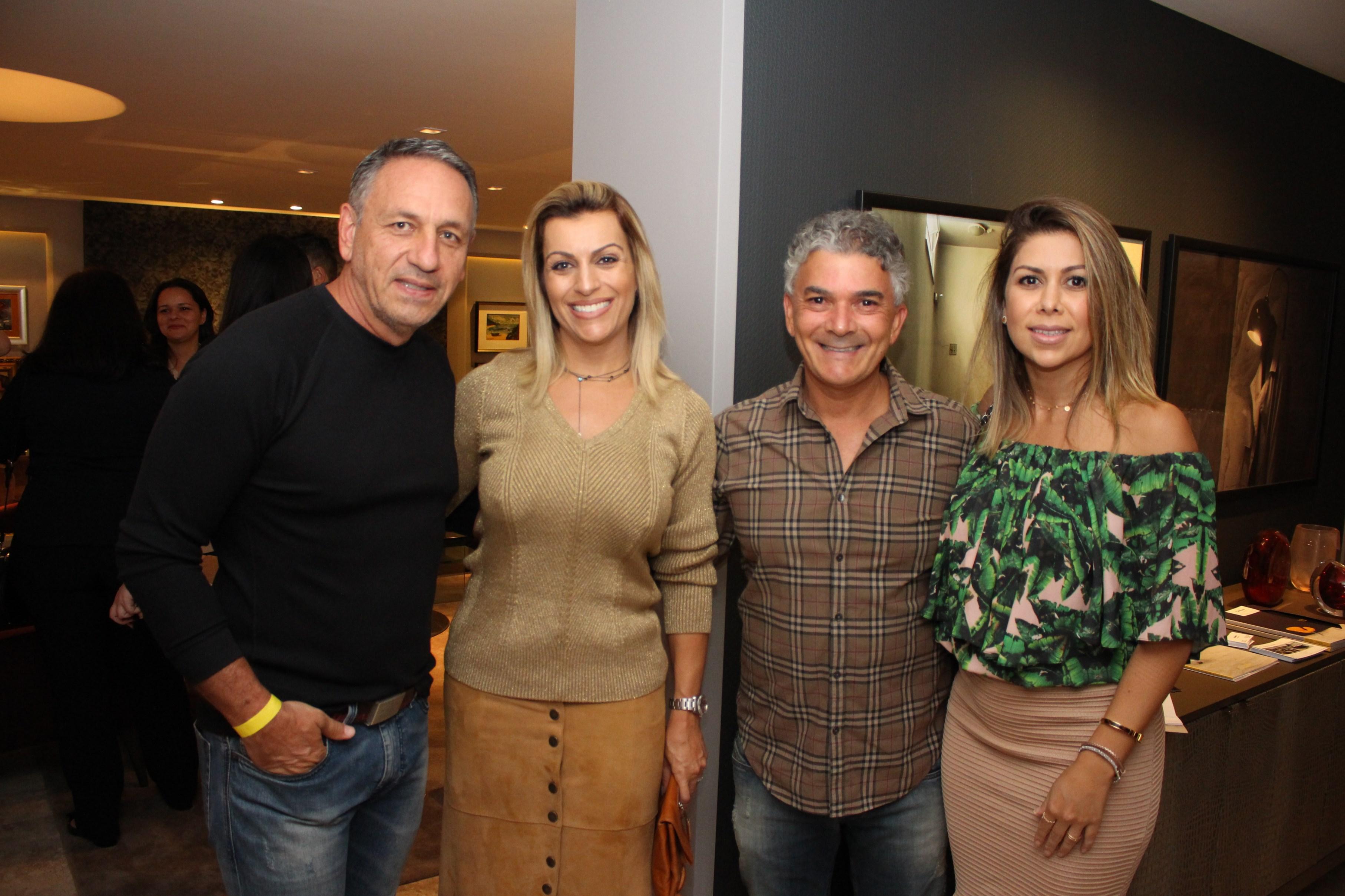Giovanini Lettieri, Dora Lettieri, Geraldo Lopes e Adriana Lopes