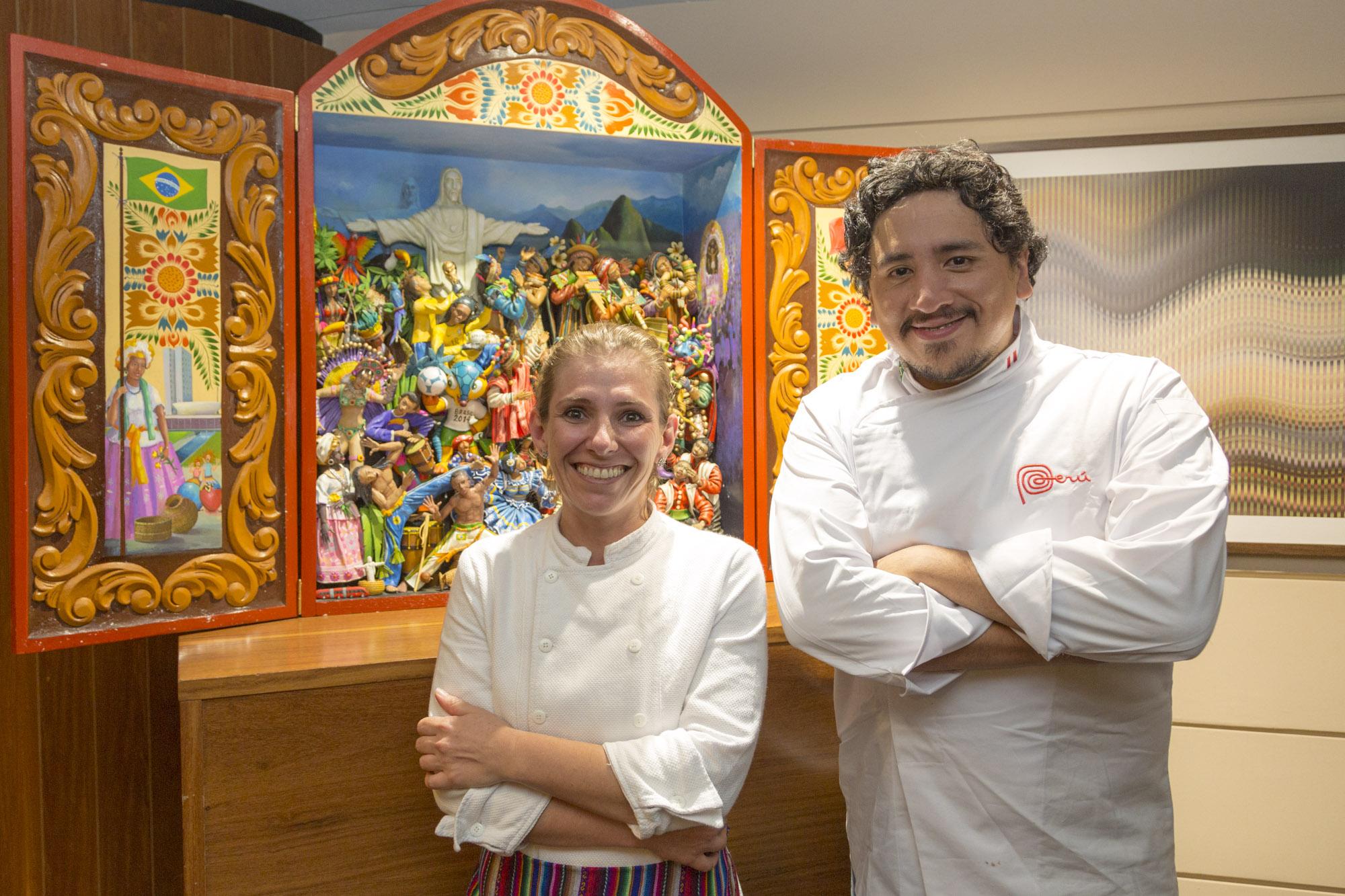 Chef Myriam Carvalho e Chef peruano Marco Espinoza